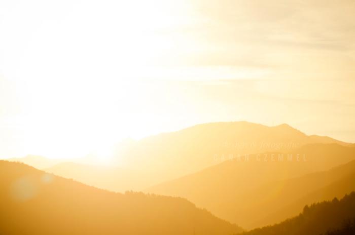 Sonnenaufgang in den Cevennen